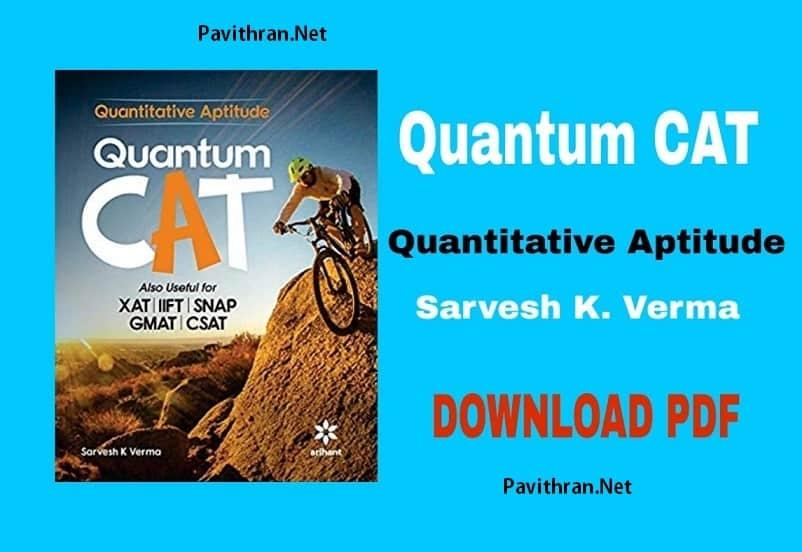 Quantum CAT Quantitative Aptitude Book by Sarvesh K.Verma