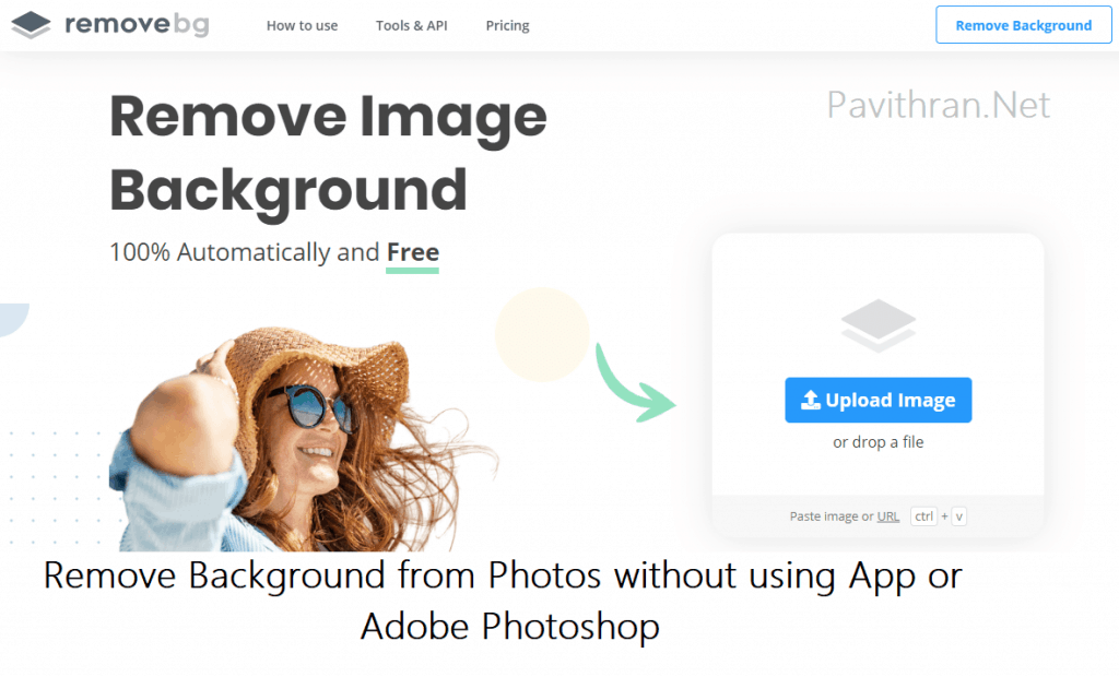 Remove Background from Photos online without Photoshop