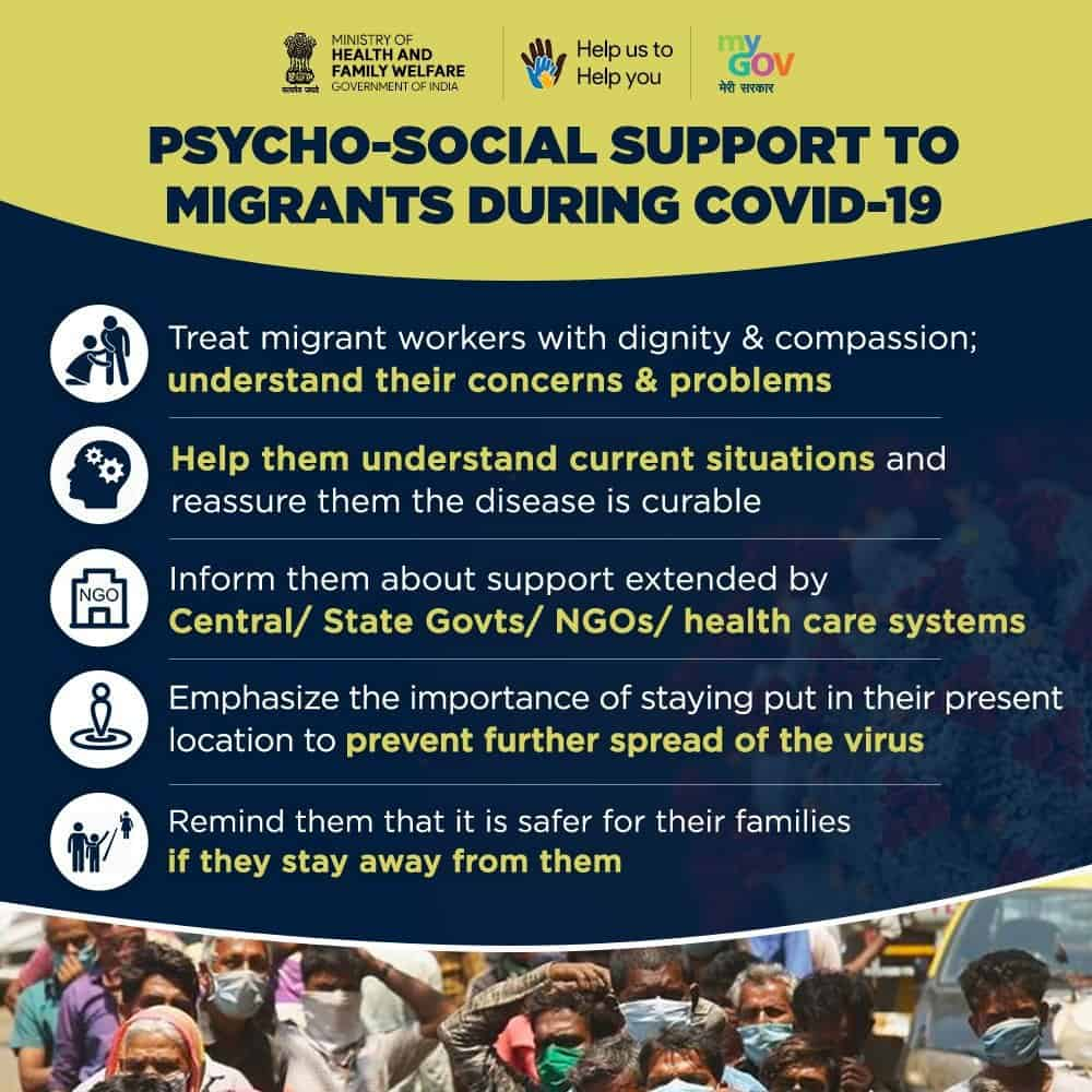 Psycho-Social Support to Migrants during COVID-19